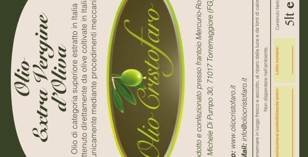 etichettatura olio extra vergine
