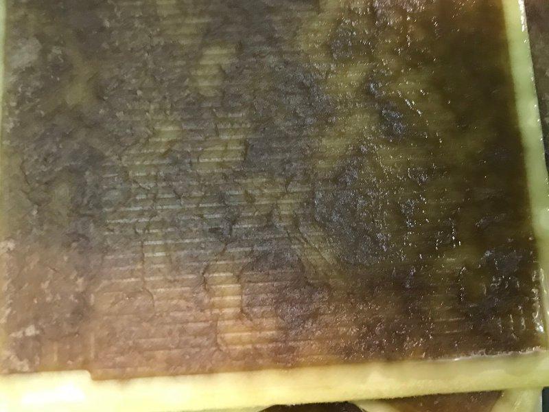 cartone dopo il filtraggio dell'olio