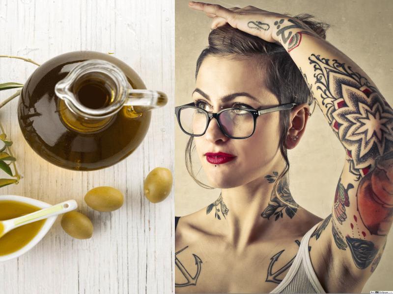 Curare i tatuaggi con crema idratante all'Olio di Oliva