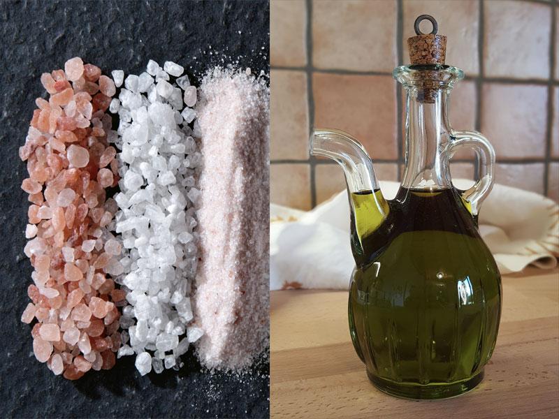 Olio di oliva e Sale rosa dell'Himalaya: per uno Scrub fatto in casa