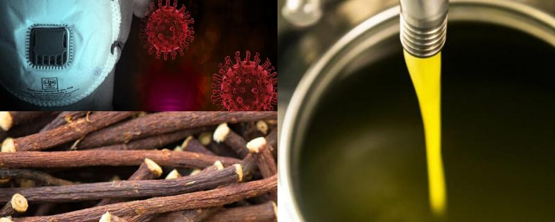 Olio di Oliva e Liquirizia: due prodotti con proprietà anti-Covid 19