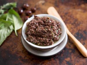 patè olive nere e noci