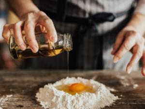 pasta fresca con olio di oliva